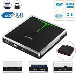 Guamar 5-in-1 USB 3.0 USB External DVD Drive