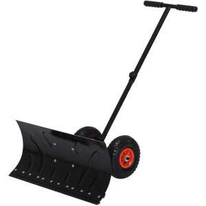 "HOMCOM 29"" Blade Snow Pusher Shovel Wheels"