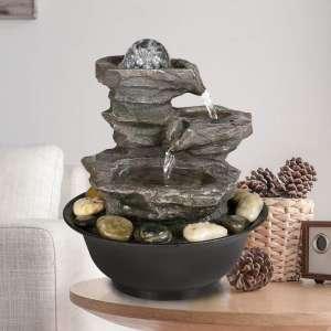 PeterIvan 4-Tier Tabletop Water Fountain