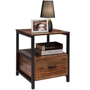 VECELO Modern Rectangular Wood Stand