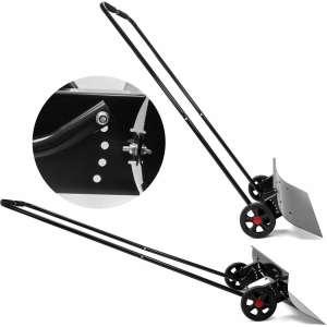 XtremepowerUS Premium Snow Shovel with Wheels