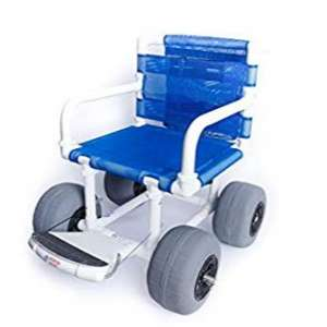 Fields Outdoor Supplies Beach Wheelchair with 12 inches Balloon Tires