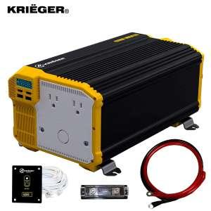 1. Krieger 12V 4000 Watt Power Inverter Approved to CSA and UL Standards