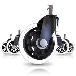 The Office Oasis Set of 5 Office Chair Heavy Duty Caster Wheel