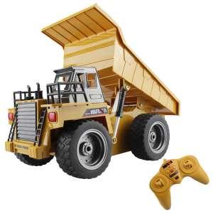 fisca RC Truck 2.4G 6 Ch Alloy Remote Control 4 Wheel Driver Dump Truck