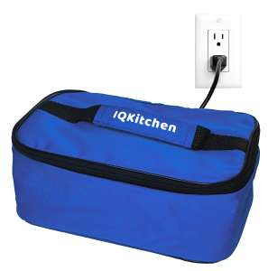 IQ Kitchen Personal Portable Electric Food Warmer (Blue)