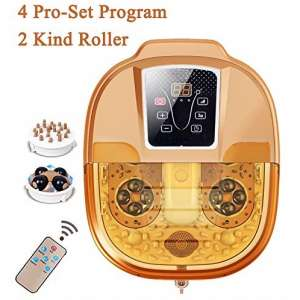 Foot Spa Motorized Massager with Adjustable Time & Temperature