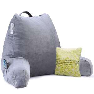 Vekkia Premium Bed Rest & Soft Reading Pillow with Support Arms