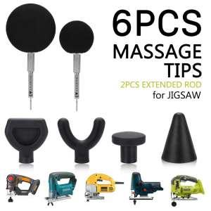 AXABING Mobility Jigsaw Massage Balls 6-Piece Massage Gun Heads
