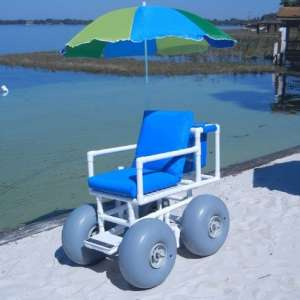 Healthline Medical Beach Large Tires Wheelchair
