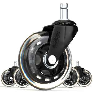 SunnieDog Universal Fit Ergonomic Smooth Rolling Office Chair Wheel
