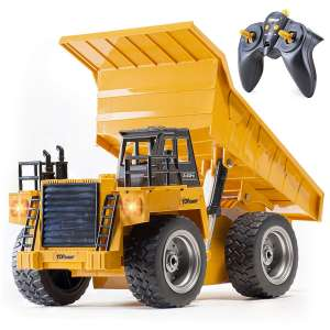 Top Race 4WD RC Remote Control TR-112G Dump Truck Toy for Kids