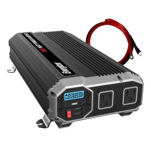 4. Energizer 1500 Watt Power Inverter with 2 USB Ports and dual 110V AC Outlets