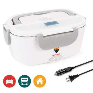 Travelisimo Electric Food Warmer Heater – 2 Compartments Included