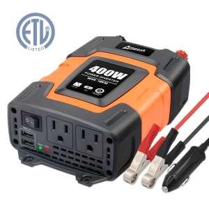 5. Ampeak 110V AC 400W Power Inverter Dual USB Converter