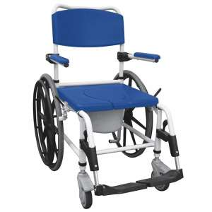 Drive Medical Shower Chair Blue Aluminum Commode Wheelchair