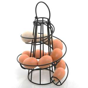 MyGift Deluxe Modern Spiraling Design Egg Dispenser