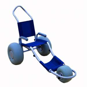Sand Rider Blue Custom Beach Wheelchair