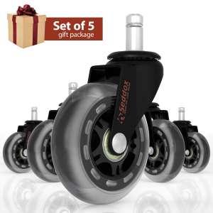 Seddox Set of 5 Professional 3 inches Heavy Duty Office Chair Caster Wheels