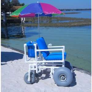 Aqua Creek F-013BAC Beach Wheelchair with four Large Tires
