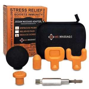 BA1 Massage Five Deep Tissue Tips Attachment Jigsaw Massager Adapter