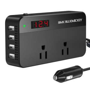6. BMK 200W Car Power Inverter with Current LCD Screen and Switch