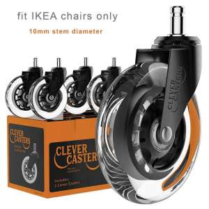 Caster Chair Wheels Set Of 5 Office Replacement Casters for Hardwood Tile Vinyl