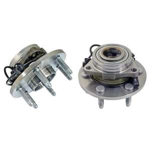 Detroit Axle - 4WD Hub Assembly and FRONT Wheel Bearing