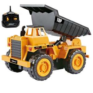 Top Race Fully Functional Remote Control 5 Channel Construction Truck