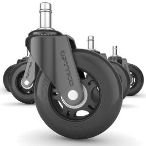 OPTTICO Replacement Heavy Duty Office Chair Caster Wheels- No Chair MAT
