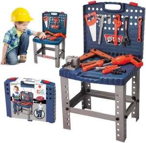 ToyVelt 68 Pieces Kids' Toy Workbench