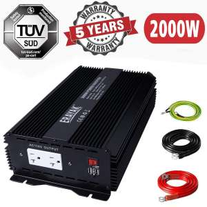 8. ERAYAK 2000W Car Power Inverter with Dual USB Ports