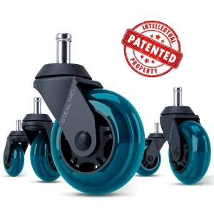 STEALTHO Quick & Quiet Rolling Caster wheels Replacement Office Chair Caster Wheels
