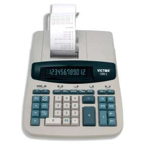 Victor 12 Digit Heavy-Duty Printing Calculator
