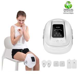 HEZHENG Cordless Heated Air Pressure Knee Massager with 6 Pads