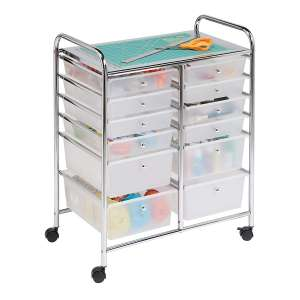 1. Honey-Can-Do Rolling Storage Cart