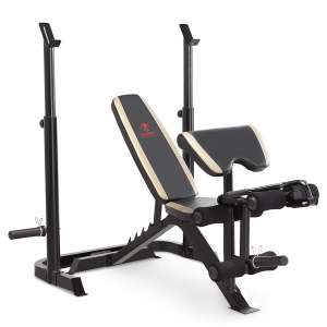 Marcy MD-879 Adjustable Olympic Weight Bench with Squat Rack and Leg Developer