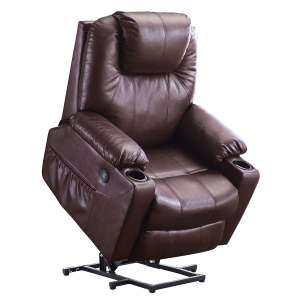 1. Mcombo Electric Power Lift Chair with Massage & Heat for the Elderly (Dark Brown)