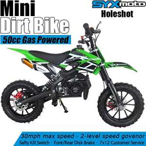 SYX MOTO Kids 2-Stroke 50cc Gas Power Holeshot Mini Dirt Bike