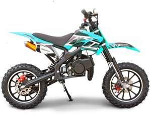 SYX MOTO Kids 2-Stroke 50cc Gas Power Holeshot Mini Dirt Bike