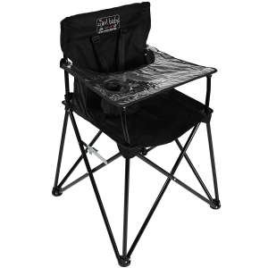 ciao! baby Portable High Chair with Tray, Black