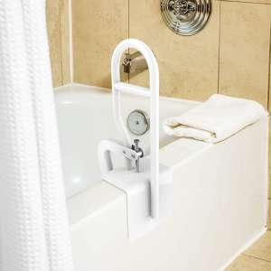 10. Bluestone Bathtub Safety Rail with Adjustable Clamp & Rubber Grips