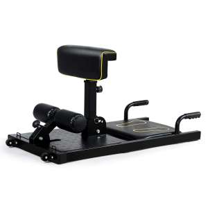 GYMAX Sissy Squat Machine with Adjustable Height and Protective Foam