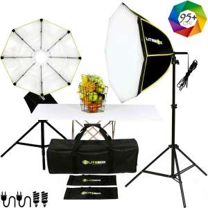 10. LITEBOX Dual Continuous 1100W Softbox Lighting Kit
