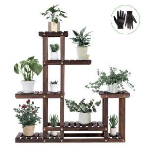 VIVOSUN Wood Plant Stand Shelve