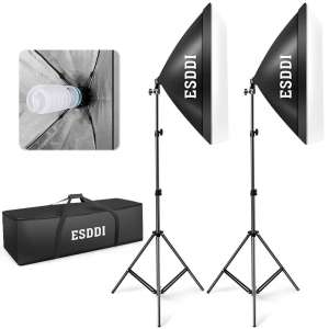 2. ESDDI 800W Continuous Softbox Lighting Kit