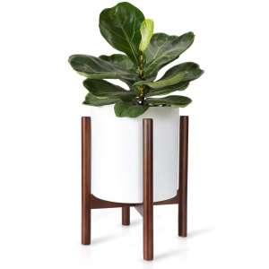 Mkono Plant Stand Wood Flower Pot Holder