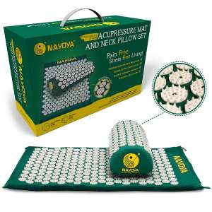 2. Nayoya Neck and Back Pain Relief Acupressure Mat- comes in a Carry Case