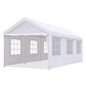 2. Quictent Heavy-Duty Carport Canopy, White (with Windows)