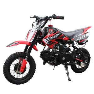 X-Pro 110cc Dirt Bike with Handgrip, Gloves, and Goggle